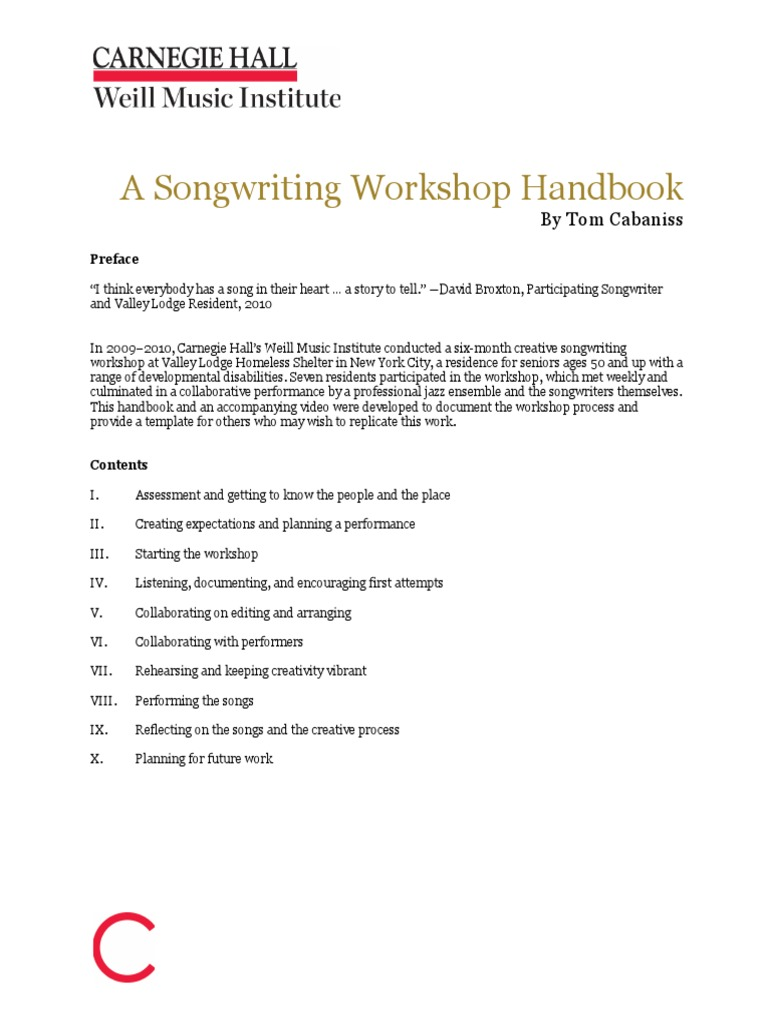 HOW TO_Songwriting Workshop Handbook_Tom Cabaniss_CH pdf