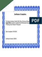 nih training certificate
