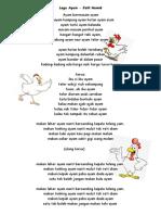 Lagu Ayam