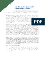 Análisis Del Costo Por Metro Cuadrado-Caracas