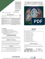 Bulletin for April 16, 2017