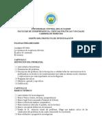 Esquema Del Diseño Del Proyecto de Investigación Actualizado 2016. Articulo 15 de Lineamientos