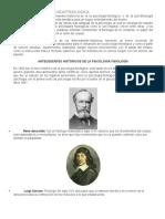 Historia de La Psicologia Fisiológica