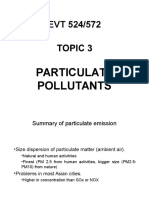 Topic 3-Particulate Pollutants