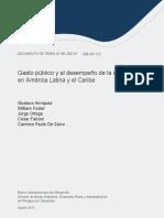 Gasto Publico y El Desempeno de La Agricultura en America Latina y El Caribe