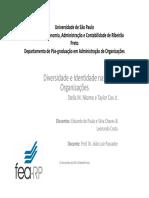 Apresentação - Diversidade e Identidade Nas Organizações IFSP