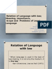 3. Relation of Lanuage With Law, Legal Language... - Copy