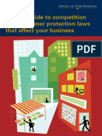 Office of Fair Trading - A Quick Guide to Competition and Consumer Protection Laws