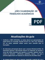 Formatação e Estrutura de Trabalhos Acadêmicos