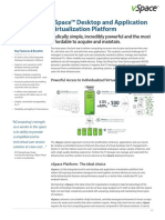 Datasheet VSpace Desktop and Application Virtualization Platform (en) 148626