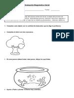 Evaluación Diagnóstica Matemática  1° básico