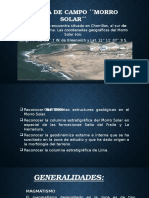 SALIDA DE CAMPO ´´MORRO SOLAR´´