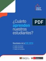 Resultados Evaluación Censal Nacionales 2016 Peru