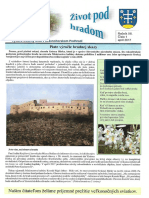 Život pod hradom - obecné noviny