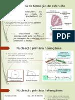 Cinética de Formação de Esferulito - Apresentação