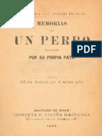 Memorias de Un Perro Escritas Por Su Propia Pata, Juan Rafael Allende