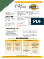 Scottsdale Lunch Menu 3 2016