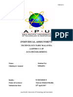 APU Diploma Java Assignment