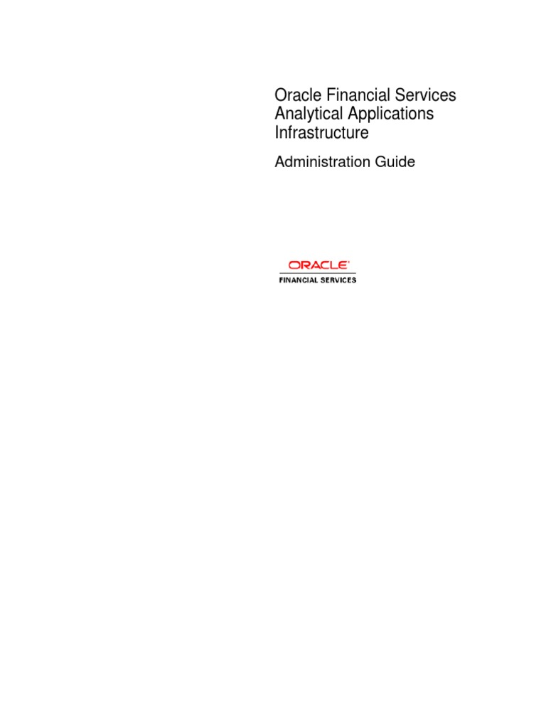 Ofsaai Administration Guide Pdf Component Based Software