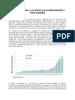 Biocombustibles y Su Efecto en La Alimentación a Nivel Mundial