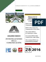 13 Observatorio ININCO-UCV DE LA COMUNICACIÓN Y LA CULTURA FESTIVAL DE LA LECTURA CHACAO 2016