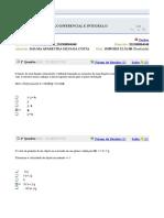 Calculo Diferencial e Integral II Avaliando Jailma Aula 1 a 5