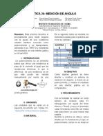 Reporte de Practicás Medicion de Angulo