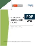 Plan Gestión de La Calidad 2016 - Geresa La Libertad Final