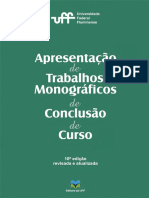 Livro - Apresentacao Trabalhos Monograficos de Conclusao de Curso Ed 10