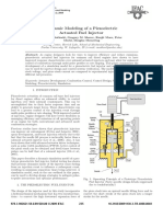 Dynamic Modeling of a Piezoelectric Actuated Fuel Injector