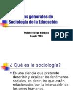 Conceptos Generales de Sociología de La Educación