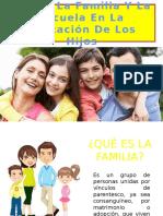 Rol de La Familia Y La Escuela En