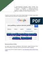 Cara Masang Custom Domain jetdino ke blogspot