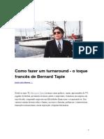 Neves - Como Fazer Um Turnaround - o Toque Francês de Bernard Tapie