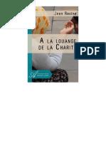 JEAN RACINE-A La Louange de La Charite