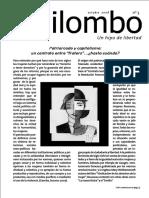 """Patriarcado y Capitalismo. Un Contrato Entre """"Fraters"""" -Revista Quilombo Nº 3 2008"""