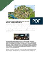 Neves - Pequenos Negócios e Planejamento Municipal - Como Articular Interesses e Parcerias