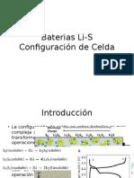 Baterias Li-S Cell Configuration