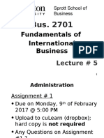2701_Lecture # 5 + International Trade Theories - 2 Feb 2016.pptx