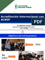 Inducción a La Acreditación ACBSP UPRP