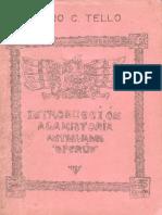 1976 Julio C Tello Introducción a La Historia Antigua Del Perú.compressed