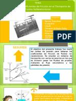 Evaluación de Coeficientes de Fricción en El Transporte de Fluidos NoNewtonianos