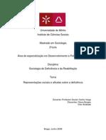 Representa+º+Áes sociais e atitudes sobre a defici+¬ncia  Vitor Andrade e Diana Borges