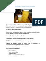 Elaboración de Conservas en AlmÃ-bar