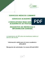 Convocatoria Servicios Académicos de Postgrado 2015..doc