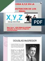 Teorias x y z Adminsitracion de Rrhh