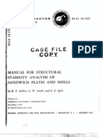 NASA-CR-1457_MANUAL FOR STRUCTURAL STABILITY ANALYSIS OF SANDWICH PLATES AND SHELLS