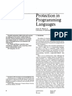 Protection in Programming Languages