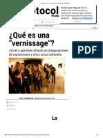 ¿Qué Es Una _vernissage__ - Protocolo & Etiqueta