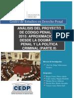 análisis del proyecto del codigo penal del 2015.pdf